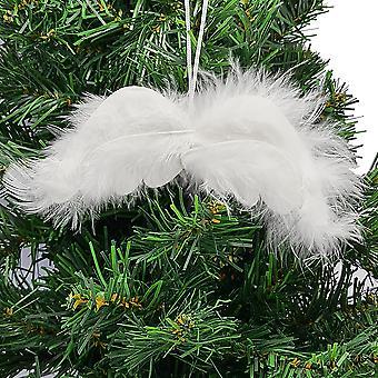 12cm valkoinen pörröinen angel wings höyhenet | Riippuva sisustus