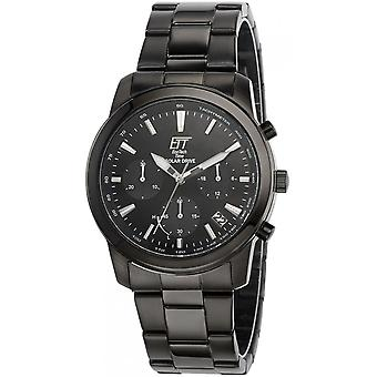 ONE (Eco Tech Time) Black Stainless Steel EGS-12074-21M Men's Watch