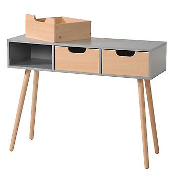 Home Desk With 3-drawers And Strong Long Legs