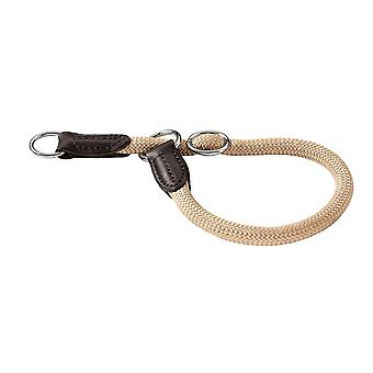 Pet leashes training freestyle collar with stop  35/8 cm  beige