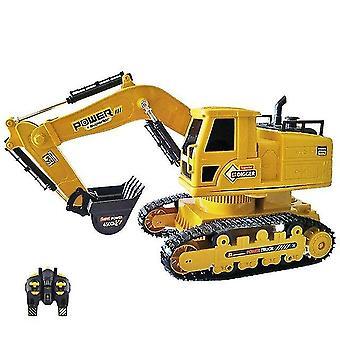 Toy cars 1:24 rc truck caterpillar car 2.4Ghz radio controlled rc excavator toy for boy|rc trucks khaki