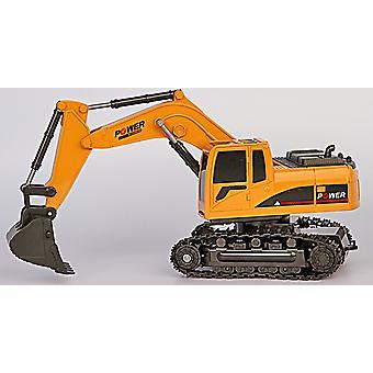 5ch Remote Control Excavator Simulation Tractors Digger With Flash Crawler