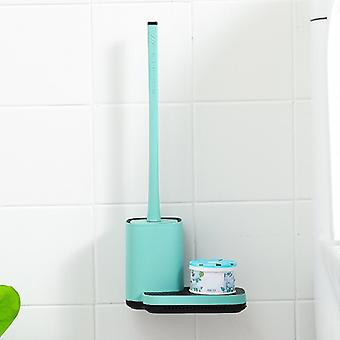Silicone Tpr Toilet Brush Holder Drainable Cleaning Brush With Storage Base Household Cleaning Tools