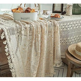 מפת שולחן חלולה ארוגה צסל בוהמיאן פסטורלי שולחן שולחן כיסוי מחצלת