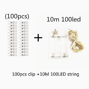 Photo Clip String Lights Led Usb Battery Operated Garland With Clothespins For Home Decoration String Lights