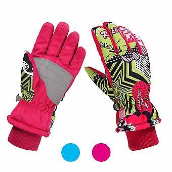 Kids Winter Gloves Warm Lining Windproof Waterproof Gloves Daily Use