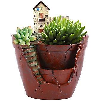 Sarja 1 kasvia ruukku kukka kasvit roikkuu Puutarha ruukku mehevät kasvit makea talo kodin koristeluun