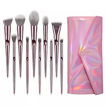 10pcs Makeup Brush Pink Set Eyeshadow Brush Beauty Tool
