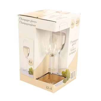 22cl champagneglazen Set van 4 Bar drinken viering glaswerk