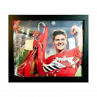Liverpool Gerrard signiert Boot (gerahmt)