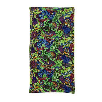 Mehndi colorida Tattoo Design praia toalha 30 X 60 polegadas