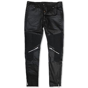 Dope Couture Foothill Tapered Moto Denim Jeans Black