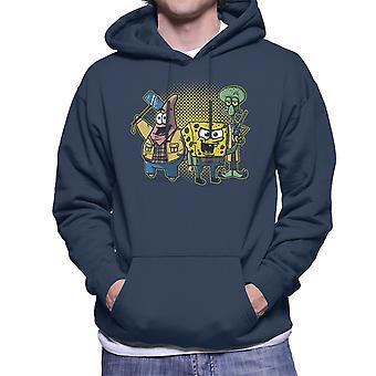 Equatic hunters Sponge Bob Square Pants Supernatural Patrick Squidward Men's Hooded Sweatshirt