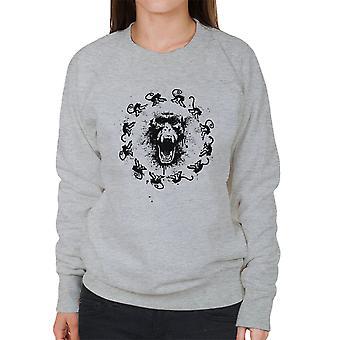 Monkey Fever 12 Monkeys Women's Sweatshirt