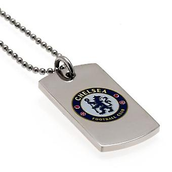 Chelsea Colour Crest Dog Tag & Chain