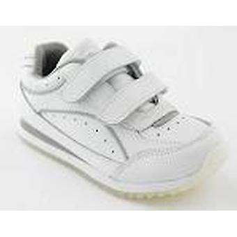 Toughees Sports White Non-marking Leather Trainers