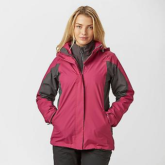 New Peter Storm Women's Lakeside 3 in 1 Jacket Outdoors Active Clothing Pink