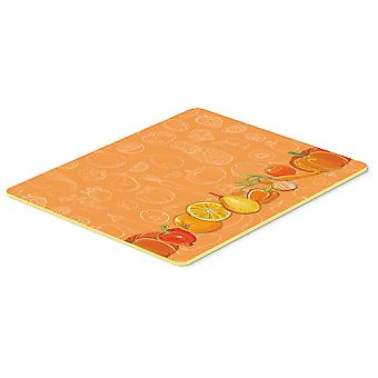 Fruits and Vegetables in Orange Kitchen or Bath Mat 20x30