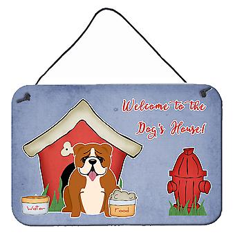 Dog House Collection English Bulldog Red White Wall or Door Hanging Prints