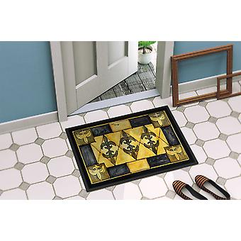 Carolines Treasures  8089-MAT Fleur de lis  Indoor or Outdoor Mat 18x27 8089 Doo
