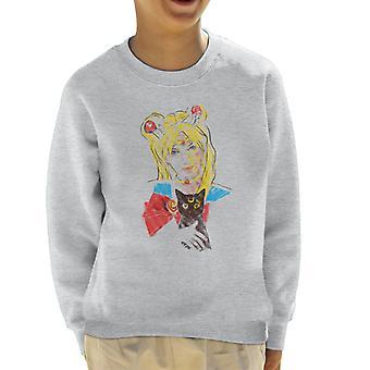 Sweatshirt de Sailor Moon et Luna réaliste Kid