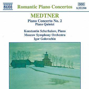 N. Medtner - Con Pno 2/Qt Pno [CD] USA import