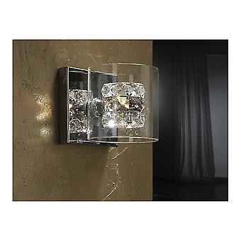 Lámpara de pared Flash de cromo de Schuller moderno con Copa de cristal