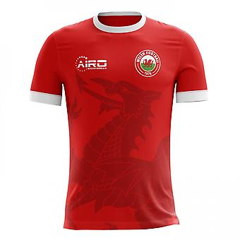 2020-2021 Wales Home Concept Football Shirt - Little Boys