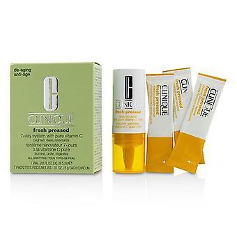 Clinique Fresh Pressed Sistema de 7 días con Vitamina Pura C (1x Daily Booster 8.5ml + 7x Limpiador de Polvo Renovador 0.5g) - -