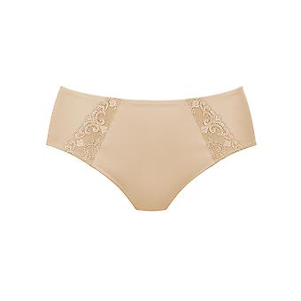 Rosa Faia 1340-753 Women's Grazia Desert Nude Embroidered Full Panty Highwaist Brief