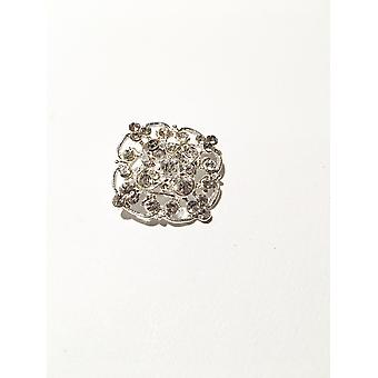 Fashionable Square Silver Brooch