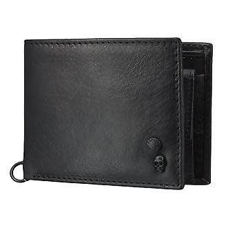 Replay kukkaro lompakko käsilaukku nahka musta 4569