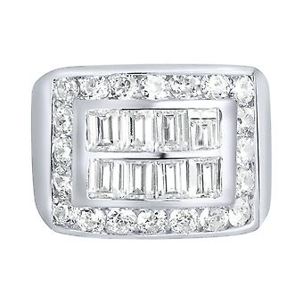 Sterling 925 Silver pave ring - KING BLING