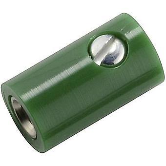 Kahlert Licht Mini jack socket Socket, straight Pin diameter: 2.6 mm Green 1 pc(s)