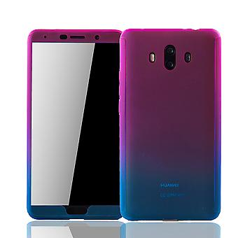 Huawei Mate 10 Phone Case Protection Case Full Cover Tank Protection Glass Pink / Blue