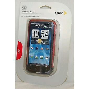 HTC のエボ 3 D PG86100 - の手袋保護電話ケース、本体の赤/黒