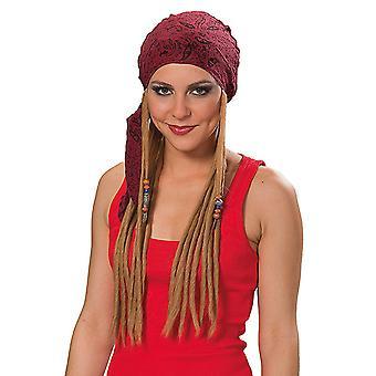 Rock Star pirate unisex wig of dreadlocks head scarf accessory Carnival Halloween