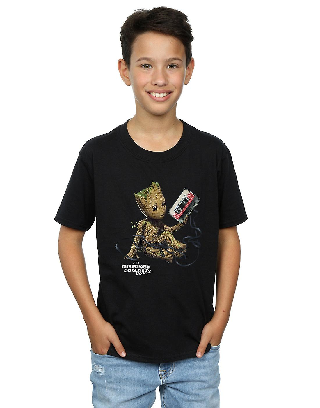Marvel Boys Guardians Of The Galaxy Groot Tape T-Shirt