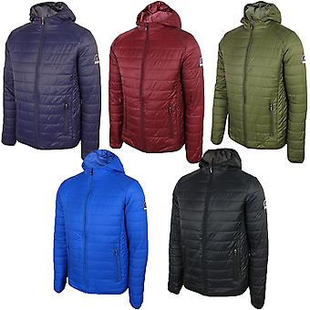 Henleys Mens Destruct 2 Padded Lightweight Hooded Winter Puffer Jacket Coat