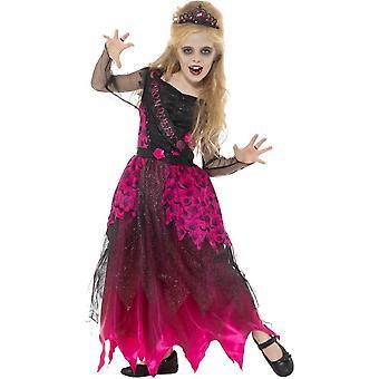 Costume Deluxe Gothic Prom Queen, Pink & nero, con abito & Tiara