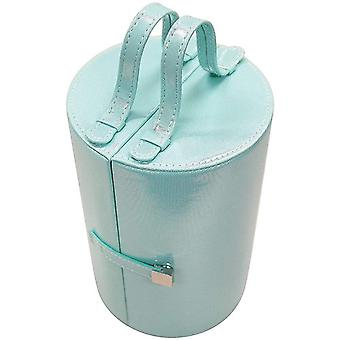 Mele Misty Green Smooth Finish 4 Tier Jewellery Case With With Carry Handle