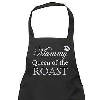 Mummy Queen Of The Roast Black Apron