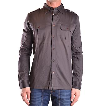 John Richmond Ezbc082026 Men's Brown Cotton Shirt