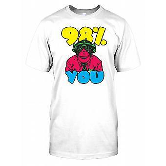 98 % Sie - Schimpanse-Nerd-Herren-T-Shirt