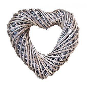 Flettet middels hjerteformede krans