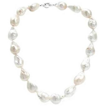 Pearls of the Orient Large Cultured Freshwater Fireball Pearl Necklace - White