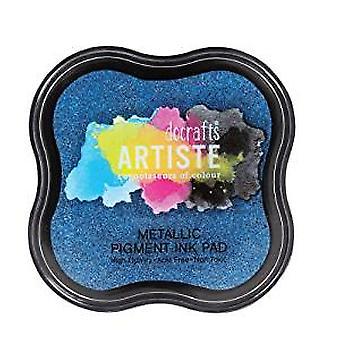 Artiste Metallic Pigment Ink Pad - Jean Blue (DOA 550123)