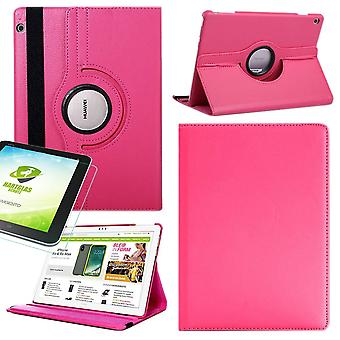 Samsung Galaxy Tab S5e T720 T725 360 Deble Cover Bag Pink Art nahka kotelo uusi + 0,3 mm kova lasi