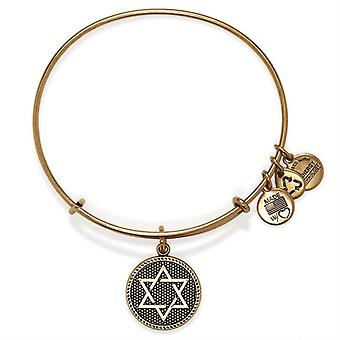 Alex and Ani Star Of David Gold Bangle A14EB73RG