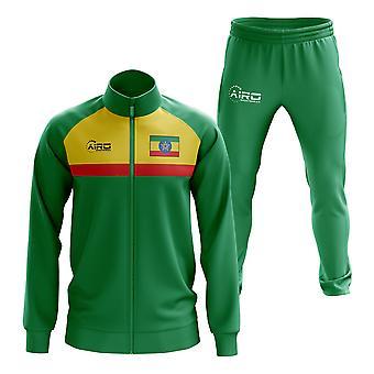 Etiópia conceito de treino de futebol (verde)